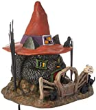 Department 56 Snow Village Halloween Black Cat Shack Lit House, 7.88''