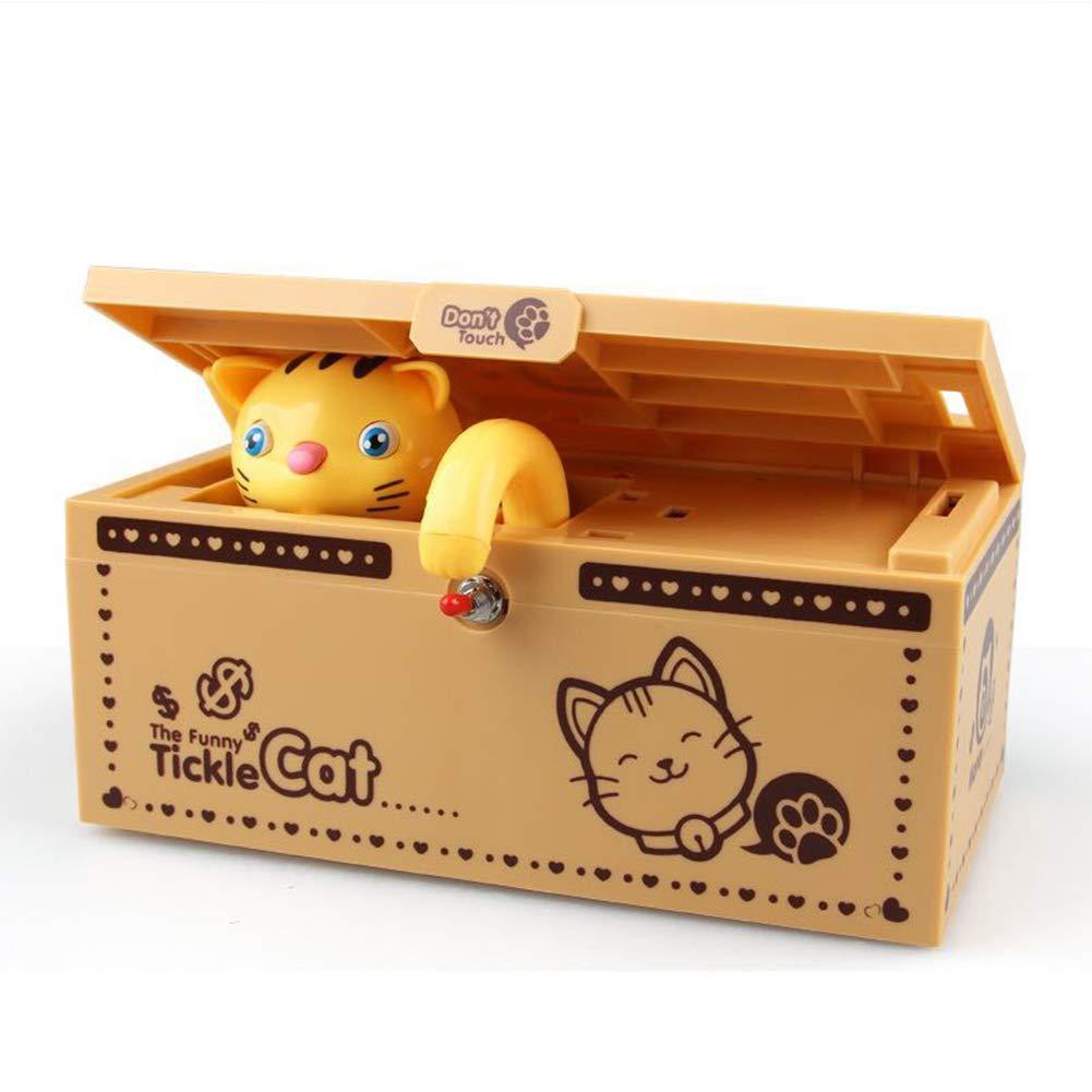 Meybabks Keramik Spardose Sparschwein Kätzchen Ändern Kann Katze Die Geld Isst Sparschwein Creative Ganze Person Gelangweilt Box Katze Sparschwein