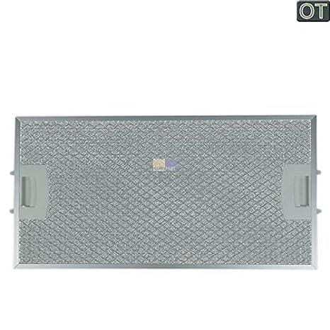Filtro de grasa rectangular metal 415 x 208 mm, trasera 00434107 ...