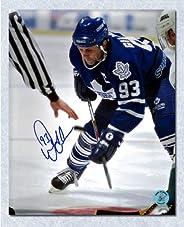 Doug Gilmour Toronto Maple Leafs Autographed Face-Off 8x10 Photo