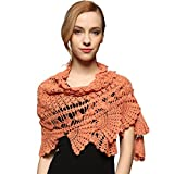 (US) ZORJAR Handmade Pure Wool Crochet Triangle Fashion Shawl Winter Scarf Warmer Wrap