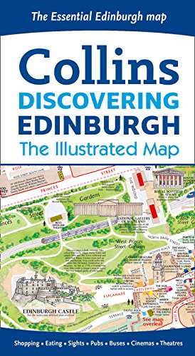 Discovering Edinburgh Illustrated Map (Gallery Collins)