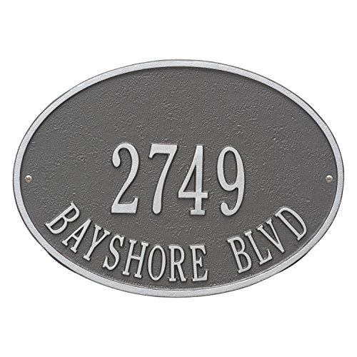 (Hawthorne Standard Address Plaque Finish: Pewter and Silver )
