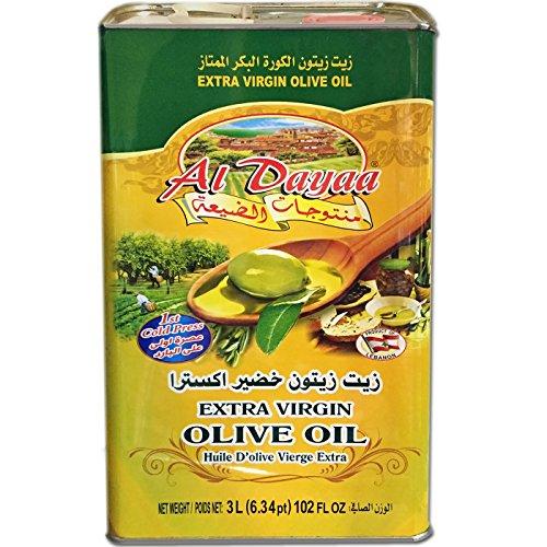 Al Dayaa - Extra Virgin Olive Oil, 3L (102 fl oz), Product of Lebanon (Best Lebanese Olive Oil)