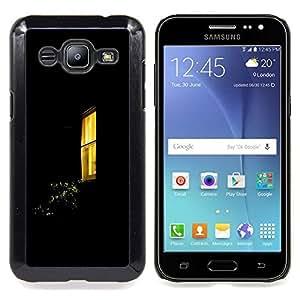 /Skull Market/ - Night Window Yellow Black Home For Samsung Galaxy J2 - Mano cubierta de la caja pintada de encargo de lujo -