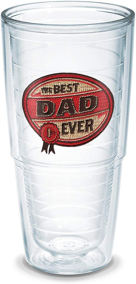 Dad Tumbler With Emblem And Red With Gray Lid 24oz Water Bottle Tervis 1231577 Hallmark Clear Kitchen Dining Home Kitchen