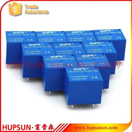 Price comparison product image Electrical Equipments T73 Rrd (10Pcs/Lot) 12V Pcb Relay 5 Pin Spdt T73 Sugar Cube Relay Pcb Miniature Relay Jqc-3F