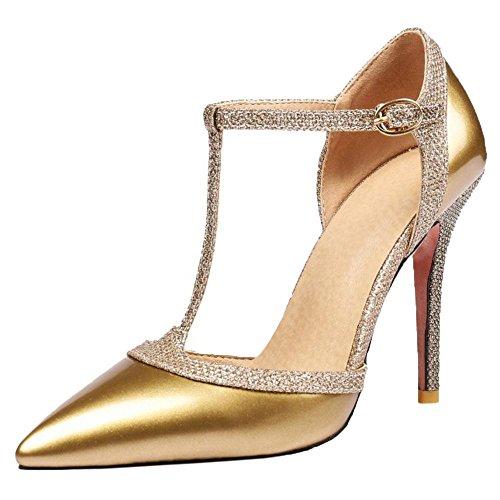 Salomes AicciAizzi Talons Escarpins Gold Chaussures Aiguille Femmes S4F4g