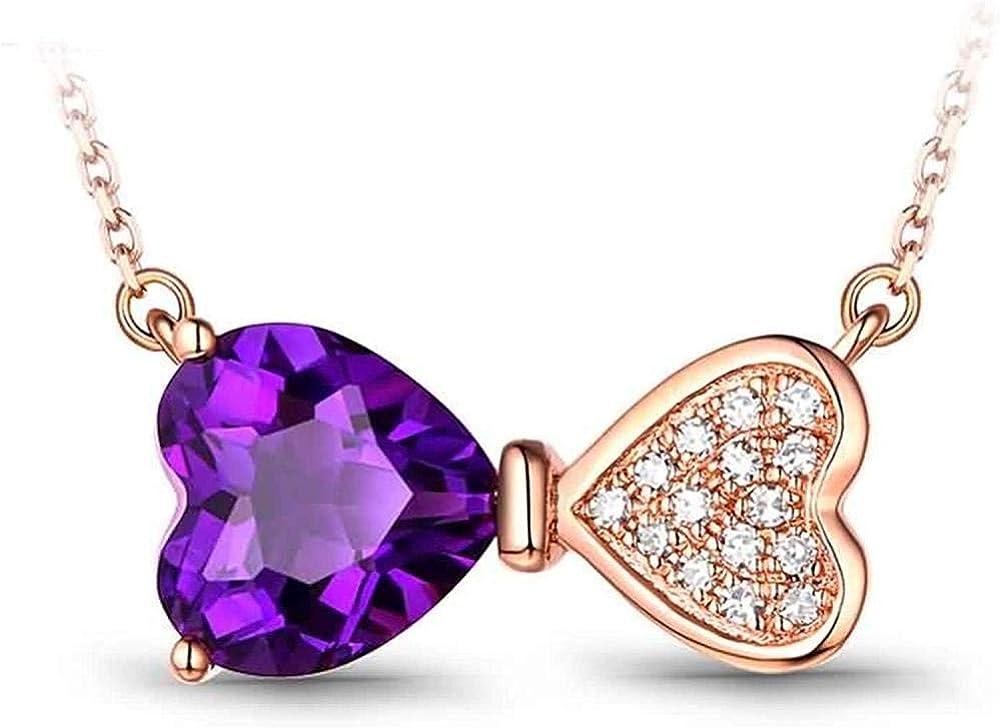 RUiillg Gargantilla,Collar de Mujer、Reloj de Collar con Colgante de Oro Rosa de 18 Quilates para Mujer con Perla de 6 mm con 0.236cttw de Piedras Preciosas de 45 cm / 18 Pulgadas