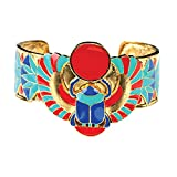Winged Scarab Bracelet Collectible Jewelry Accessory Bangle Brace