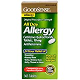 GoodSense All Day Allergy, Cetirizine HCL Tablets, 10 mg, 365 Count
