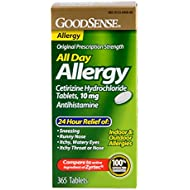 GoodSense All Day Allergy, Cetirizine HCL Tablets, 10...