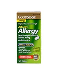 GoodSense All Day Allergy, Cetirizine HCL Tablets, 10 mg, 365...