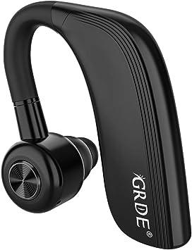 GRDE Manos Libres Bluetooth Auricular Inalámbricos Bluetooth Auricular Bluetooth In-Ear con 25 Horas de Tiempo de Conversación HD Micrófono Cancelación de Ruido para Smartphone: Amazon.es: Electrónica