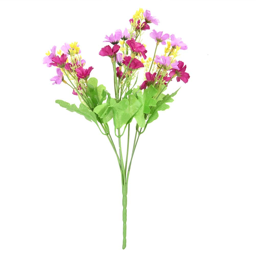 Zerone Artificial Fake Dancing-Lady Orchid Blossom Flower Bouquet Plant Home Office Decor