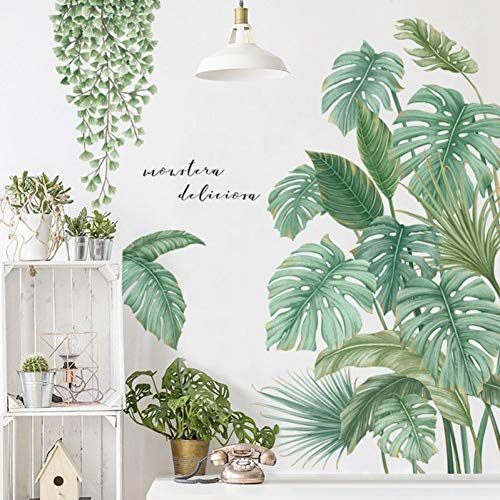 Palm Leaf Wall Sticker Art Decal Vinyl Mural Wall Decor para Kids Room Home Decor