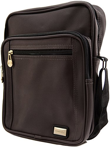 'Small Mens Ladies Brown Smooth Canvas Messenger' Travel Shoulder Style Work Bag OOYrwa