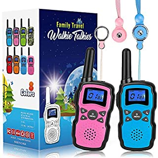 Wishouse 2 Walkie Talkies for Kids, Two Way Radio Family Talkabout for Adults Cruise Ship Long Range, Outdoor Camping Hiking Fun Toys Birthday Gift for 3 4 5 6 7 8 9 10 11 12 Year Old Girls Boys