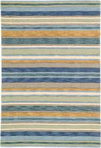 Company C Sheffield Stripe Natural Fiber Rug, 1' x 1' , Seagrass (Stripes Seagrass Rug)