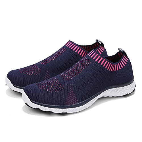 Monrinda Women Breathable Sailing up Beach Water Shoes Mesh Slip on Water Trainers Ladies Lightweight Quick Dry Aqua Sneakers Outdoor Couples Walking Sports Shoes Blue Plum ZwhBKRFGu