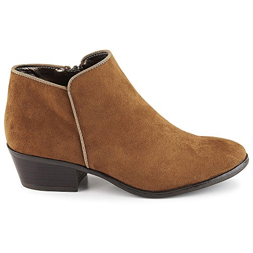 XAPPEAL Stewart Low Tan Heel Shoes Ankle Bootie Womens Cut rrBq6U7