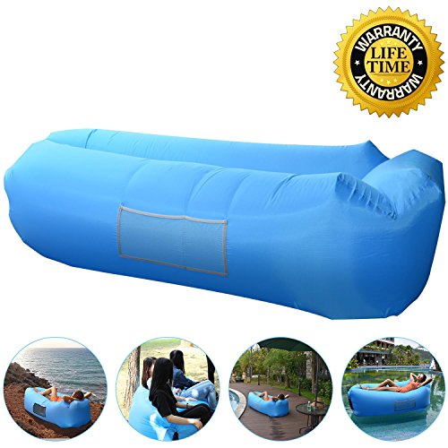 Outdoor Inflatable Lounger Couch, Air Sofa Blow Up Lounge Chair with Carrying Bag for Travelling, Camping, Hiking, Park, Pool and Beach (Air Sofa)