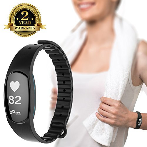 Fitness Trackers, New Version IP67 Heart Rate Monitors Blood Pressure Calorie Step Distance Counter Sleep Quality Recorder Call SMS Reminder Shutter Remote Control. [Factory Store]