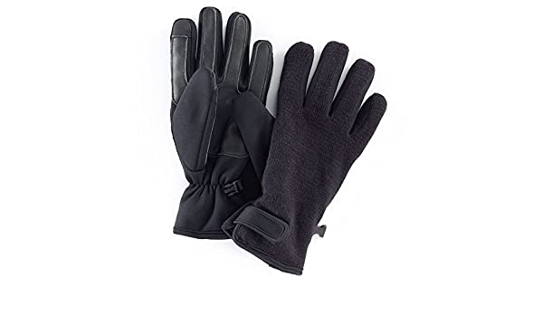 9 Knit Fusion Texting Gloves Men Black Apt