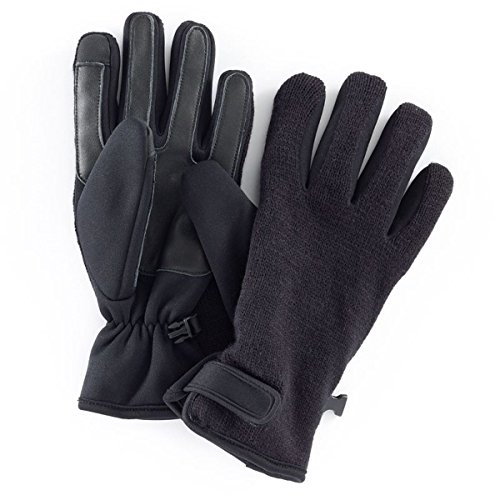 Apt. 9 Knit Fusion Texting Gloves Men Black Medium/Large from Apt 9