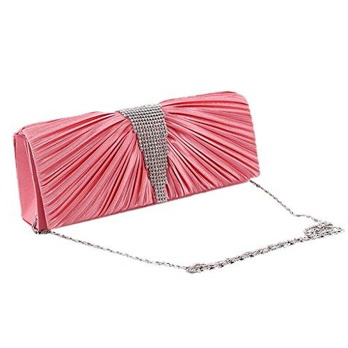 Ladies�� Rhinestone Clutch Bag Evening Elegant Shoulder Dasein Sia MagiDeal Bags Chain Fuch FxtdwXX