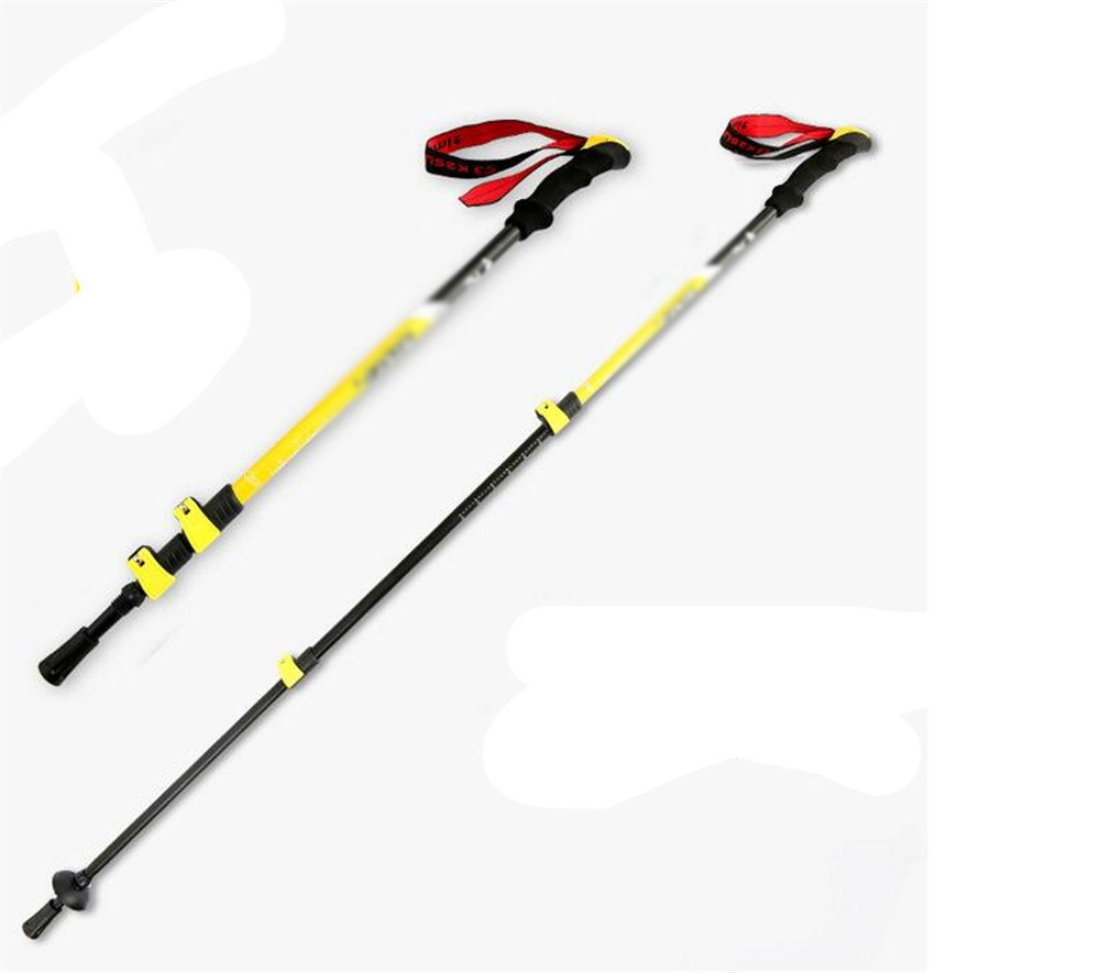 D  MONEYY  La Section III de la Serrure extérieure de l'escalade en Aluminium léger et Alpinisme Tige Droite 65-135cm Canne à Sucre