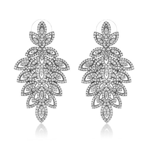 shaze Leafy Shine Earrings|Gift for Her Birthday|Christmas Gift for Her by shaze
