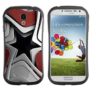LASTONE PHONE CASE / Suave Silicona Caso Carcasa de Caucho Funda para Samsung Galaxy S4 I9500 / Abstract Star Shape
