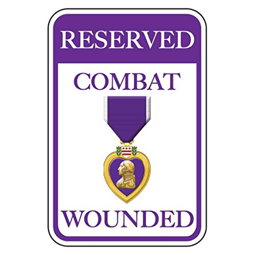 VictoryStore Parking Signs: Reserved Wounded Combat Parking Aluminum Sign, Size 12