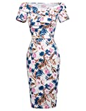 Belle Poque Retro Dress Wommen Retro 1960s Hip Wrapped Pencil Dress Prom Size 6 BP0117-11
