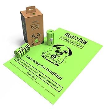 Amazon.com: Mighty Paw ecológico bolsas de caca, Premium ...