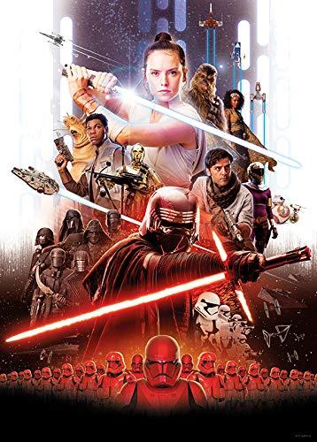 Decorazione WB175-30x40 Quadro da Parete Star Wars Movie Poster Rey per cameretta dei Bambini Komar Multicolore Stampa Artistica Senza Cornice Disponibile in 3 Misure