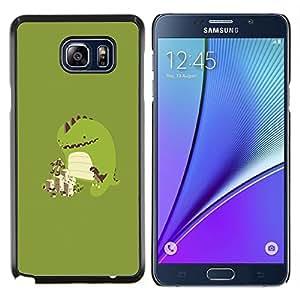 Caucho caso de Shell duro de la cubierta de accesorios de protección BY RAYDREAMMM - Samsung Galaxy Note 5 5th N9200 - Jugar lindo del monstruo