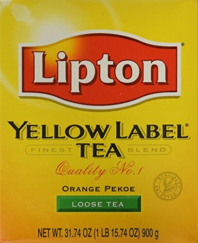 Lipton Yellow Label Tea (loose - Loose Tea Label Red