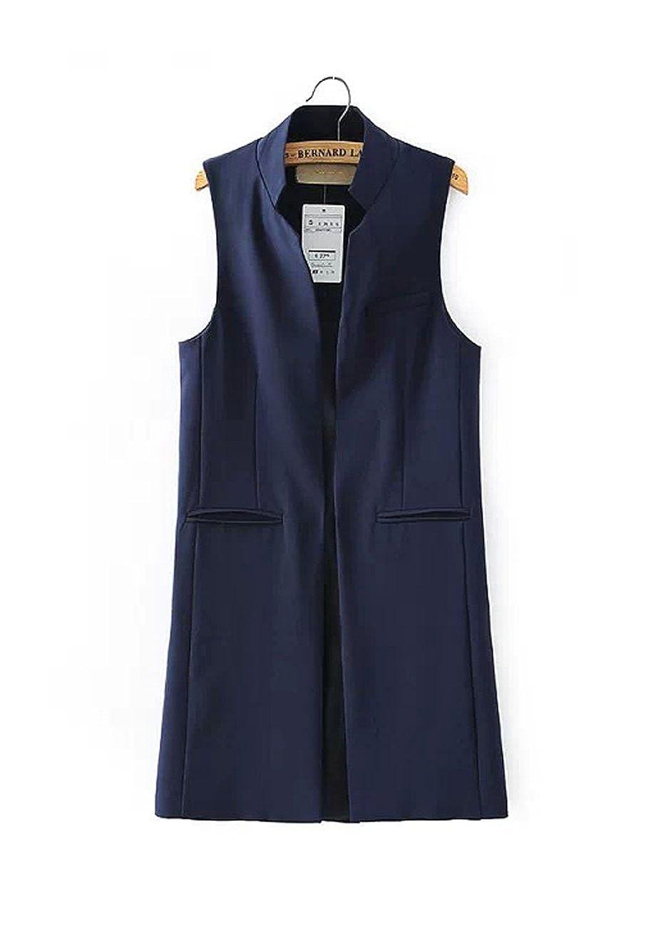 CA Mode Women's Mandarin Collar Formal Waistcoat Coat Jacket Vest Lined AC100281