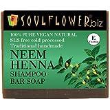 Soulflower Neem Henna Shampoo Bar Soap, 150g