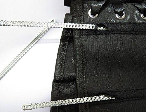 Women's Lace Up Boned Plus Size Overbust Corset Bustier Bodyshaper Top by Lelinta (Image #6)
