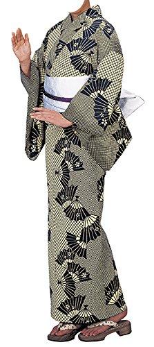 理容室布容量踊り衣裳 反物 掘印 着尺キング巾 クリーム色×黒 レディース