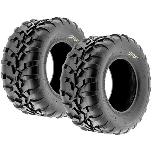 Pair of 2 SunF 25x11-12 AT-XC ATV/UTV Off-Road Tires , 6PR , Directional Knobby Tread | A010 by SunF