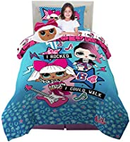 Franco Kids Bedding Super Soft Comforter with Sheets and Plush Cuddle Pillow Set, 5 Piece Twin Size, LOL Surpr