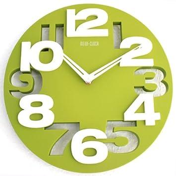 Moderno reloj de pared decoración cocina Baduhr de muñeca Country Club LKU-verde, New: Amazon.es: Hogar