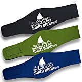 Shark Ears by Sosoft BrandsTM Swimming Head Band Physician Developed the best Swimmers Ear Band - Medium - Blue