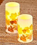 The Lakeside Collection Set of 2 LED Leaf Candles -