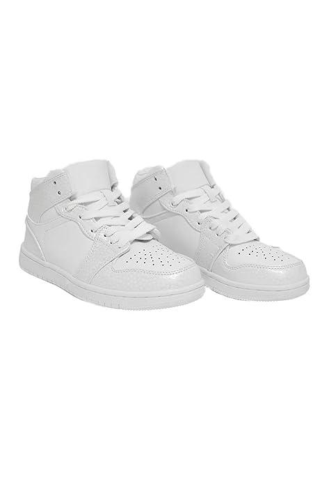 SHLEP Zapatillas Deportivas de Mujer Dama Style Air Force Blancas Modernas - DCE Moda (38