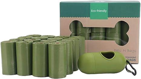Bolsa de residuos de Perro Verde 16 Rollos con Bolsa dispensador ...